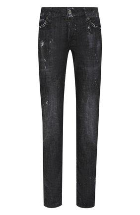 Женские джинсы с потертостями DSQUARED2 черного цвета, арт. S72LB0226/S30357 | Фото 1