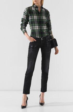 Женские джинсы с потертостями DSQUARED2 черного цвета, арт. S72LB0226/S30357 | Фото 2