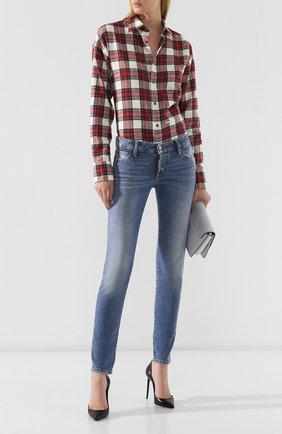 Женские джинсы DSQUARED2 синего цвета, арт. S72LB0215/S30667 | Фото 2