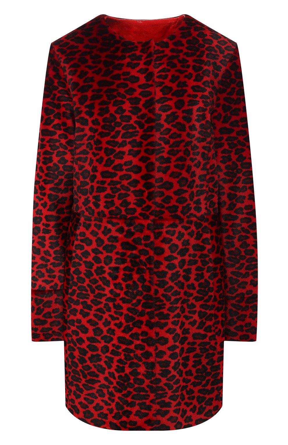 Женское меховое пальто DROME красного цвета, арт. DPD5653P/D1684P | Фото 1