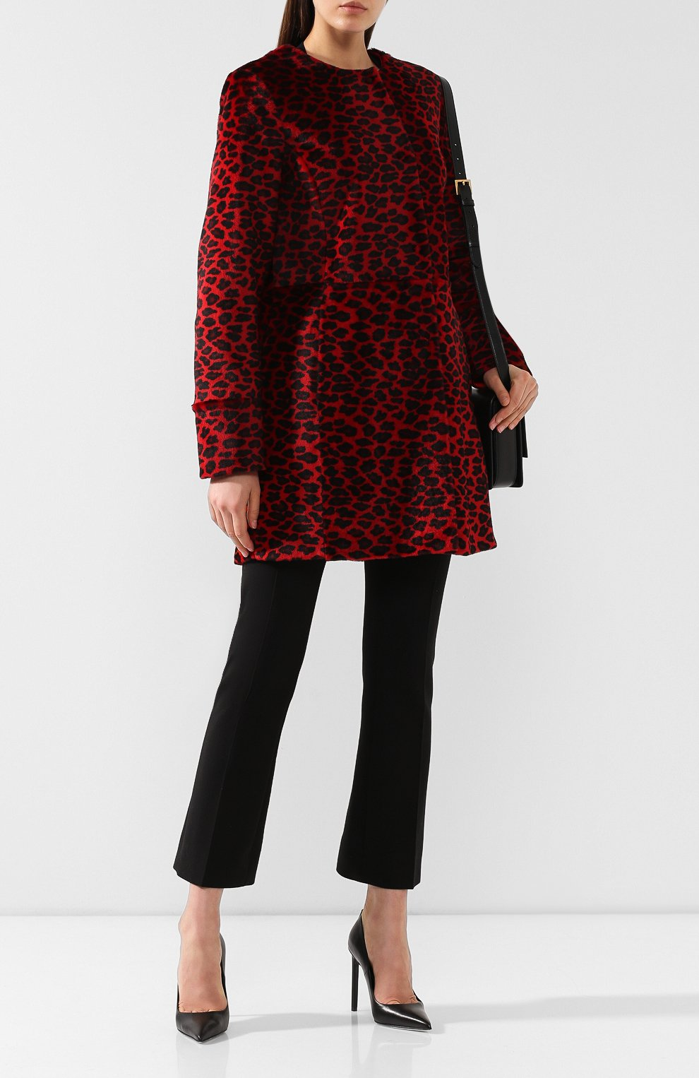 Женское меховое пальто DROME красного цвета, арт. DPD5653P/D1684P | Фото 2