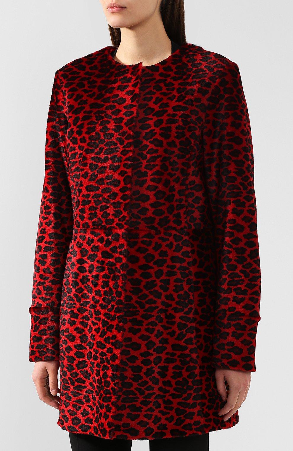Женское меховое пальто DROME красного цвета, арт. DPD5653P/D1684P | Фото 3