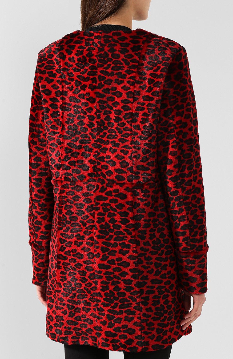 Женское меховое пальто DROME красного цвета, арт. DPD5653P/D1684P | Фото 4