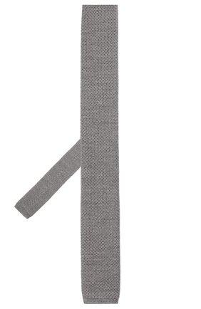 Мужской шерстяной галстук BOSS светло-серого цвета, арт. 50418957 | Фото 2