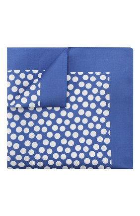 Мужской шелковый платок BOSS голубого цвета, арт. 50419510 | Фото 1