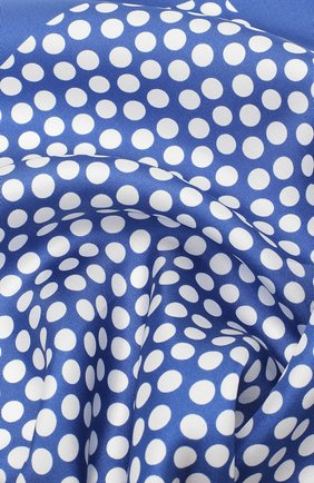 Мужской шелковый платок BOSS голубого цвета, арт. 50419510 | Фото 2