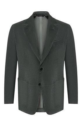 Мужской замшевый пиджак TOM FORD серого цвета, арт. BT417/TFL701 | Фото 1