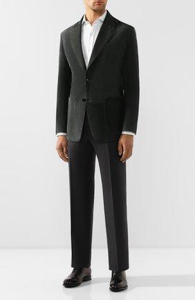 Мужской замшевый пиджак TOM FORD серого цвета, арт. BT417/TFL701 | Фото 2