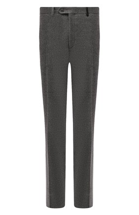 Мужской шерстяные брюки BRIONI темно-серого цвета, арт. RPN20L/06AAF/GSTAAD | Фото 1