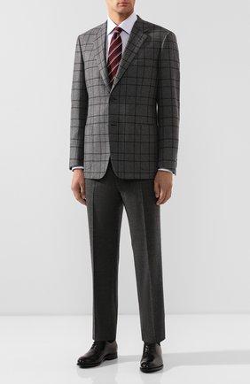 Мужской шерстяные брюки BRIONI темно-серого цвета, арт. RPN20L/06AAF/GSTAAD | Фото 2