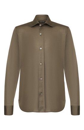 Мужская сорочка TOM FORD хаки цвета, арт. BT248/TFJ941 | Фото 1
