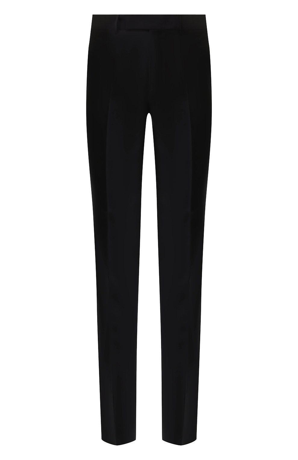 Мужские шерстяные брюки ERMENEGILDO ZEGNA черного цвета, арт. 613F02/75SB12   Фото 1