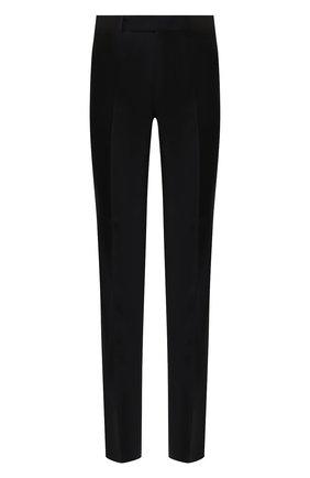 Мужские шерстяные брюки ERMENEGILDO ZEGNA черного цвета, арт. 613F02/75SB12 | Фото 1