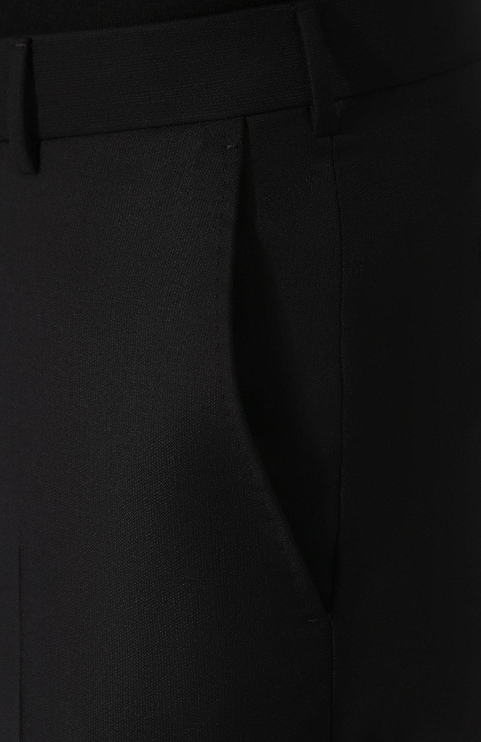 Мужские шерстяные брюки ERMENEGILDO ZEGNA черного цвета, арт. 613F02/75SB12   Фото 5