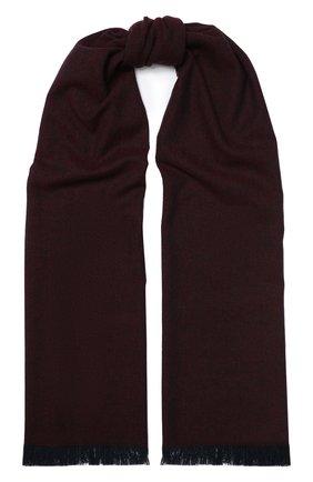 Мужской кашемировый шарф KITON бордового цвета, арт. USCIACX02S53 | Фото 1
