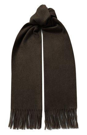 Мужской кашемировый шарф KITON коричневого цвета, арт. USCIACX02S51 | Фото 1