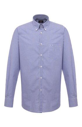 Мужская хлопковая рубашка PAUL&SHARK синего цвета, арт. C0P3004/C00 | Фото 1