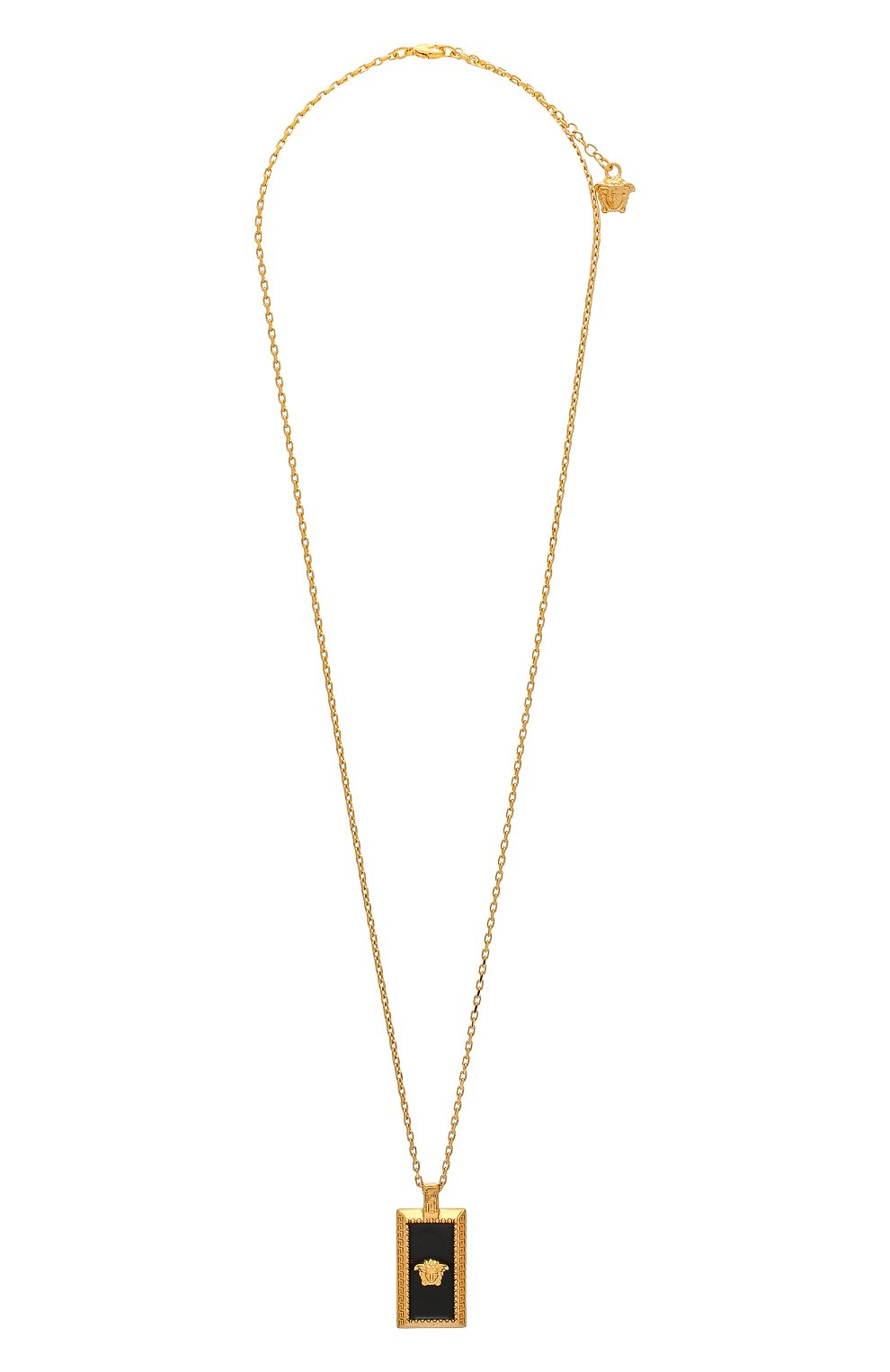 Мужского цепь с кулоном VERSACE золотого цвета, арт. DG17488/DJMS | Фото 1