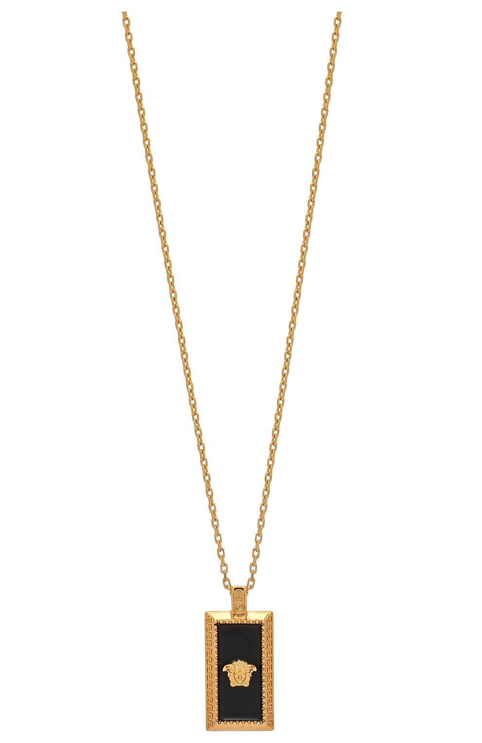 Мужского цепь с кулоном VERSACE золотого цвета, арт. DG17488/DJMS | Фото 2
