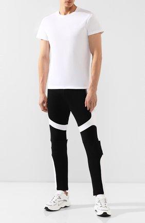 Мужская хлопковая футболка BALMAIN белого цвета, арт. SH11601/I113 | Фото 2
