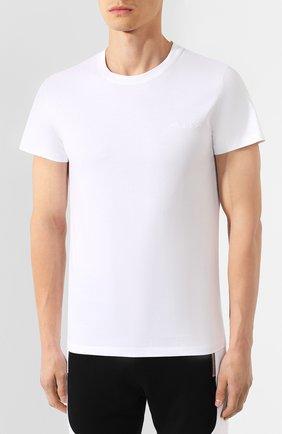 Мужская хлопковая футболка BALMAIN белого цвета, арт. SH11601/I113 | Фото 3