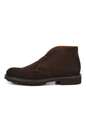 Мужские замшевые ботинки DOUCAL'S темно-коричневого цвета, арт. DU12470TTAUF024TM00   Фото 3