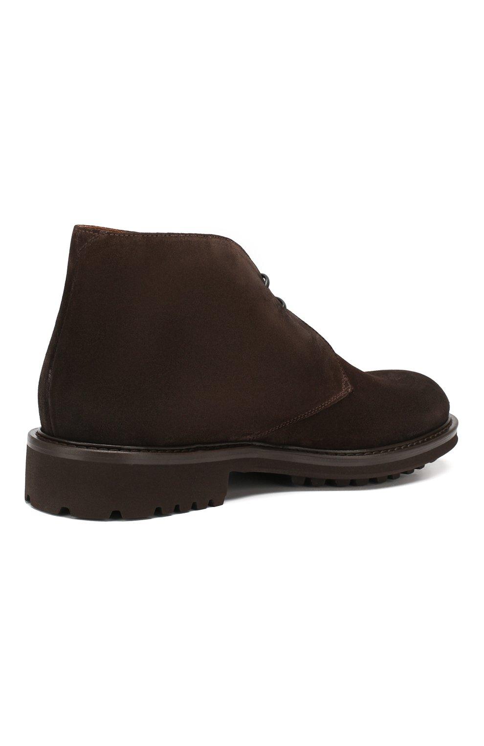 Мужские замшевые ботинки DOUCAL'S темно-коричневого цвета, арт. DU12470TTAUF024TM00   Фото 4