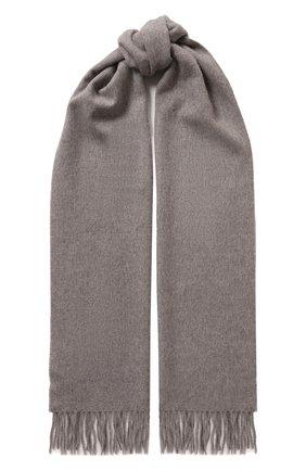 Мужской кашемировый шарф CORTIGIANI темно-серого цвета, арт. 711161/0000 | Фото 1