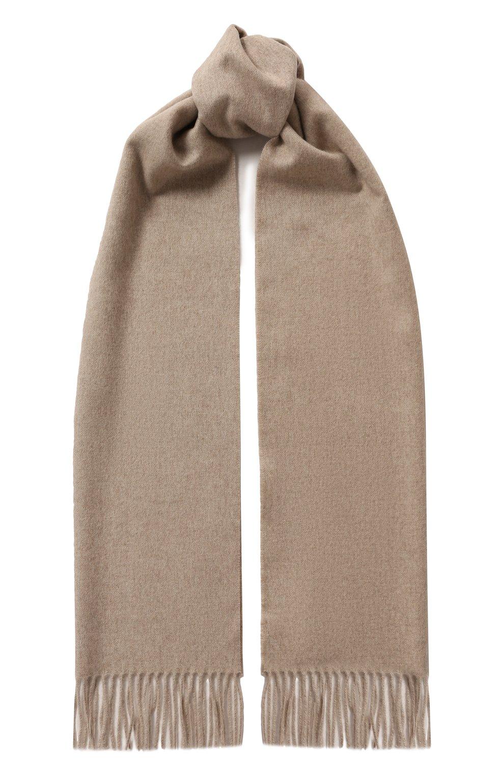 Мужской кашемировый шарф CORTIGIANI бежевого цвета, арт. 711161/0000 | Фото 1