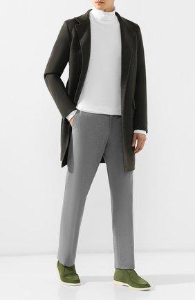 Мужские хлопковые брюки LORO PIANA серого цвета, арт. FAG4236 | Фото 2