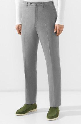 Мужские хлопковые брюки LORO PIANA серого цвета, арт. FAG4236 | Фото 3