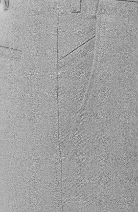 Мужские хлопковые брюки LORO PIANA серого цвета, арт. FAG4236 | Фото 5