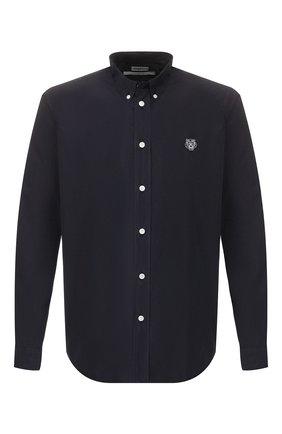 Мужская хлопковая рубашка KENZO темно-синего цвета, арт. F965CH4001LA | Фото 1