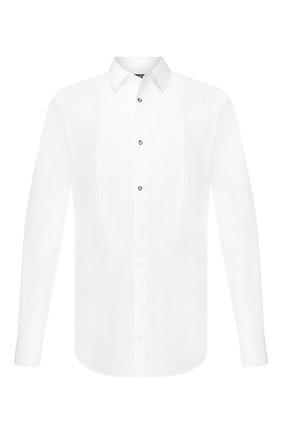 Мужская хлопковая сорочка DOLCE & GABBANA белого цвета, арт. G5EN4T/FJ5F1 | Фото 1