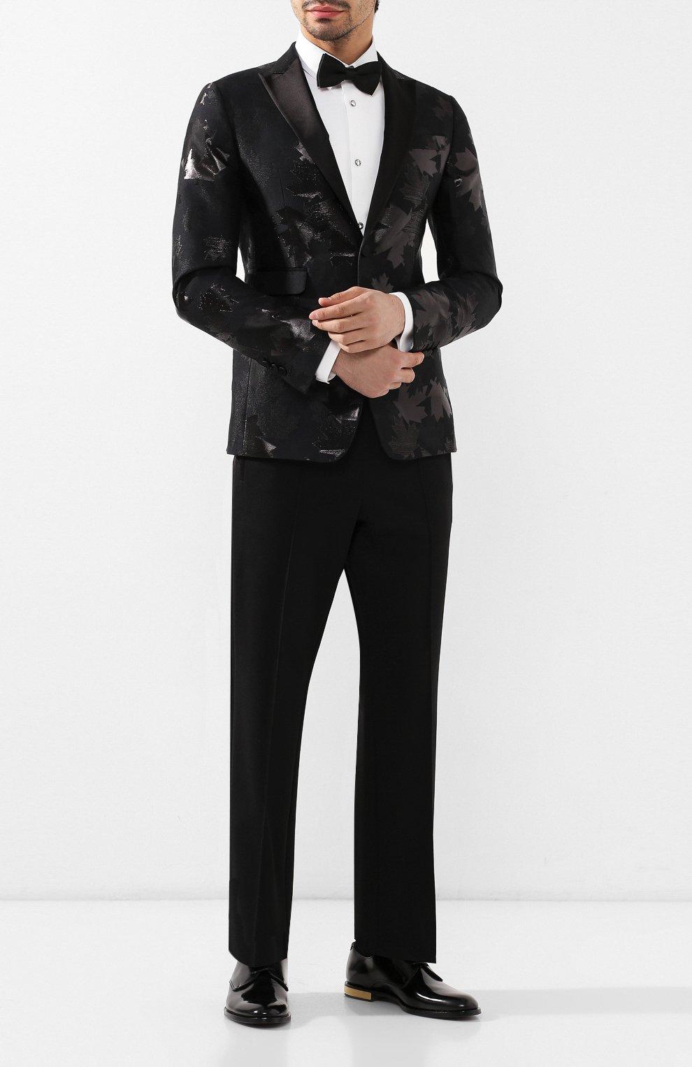 Мужские кожаные дерби DOLCE & GABBANA черного цвета, арт. A10483/A1203 | Фото 2