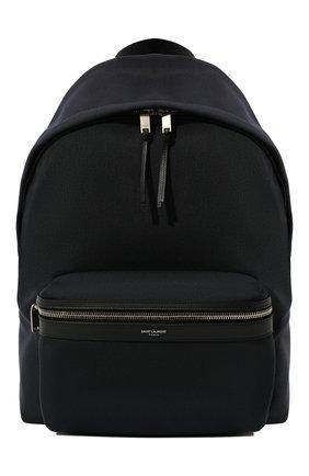 Мужской текстильный рюкзак city SAINT LAURENT темно-синего цвета, арт. 534967/GIV3F   Фото 1