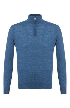 Мужской шерстяной джемпер CANALI синего цвета, арт. C0015/MK00077 | Фото 1