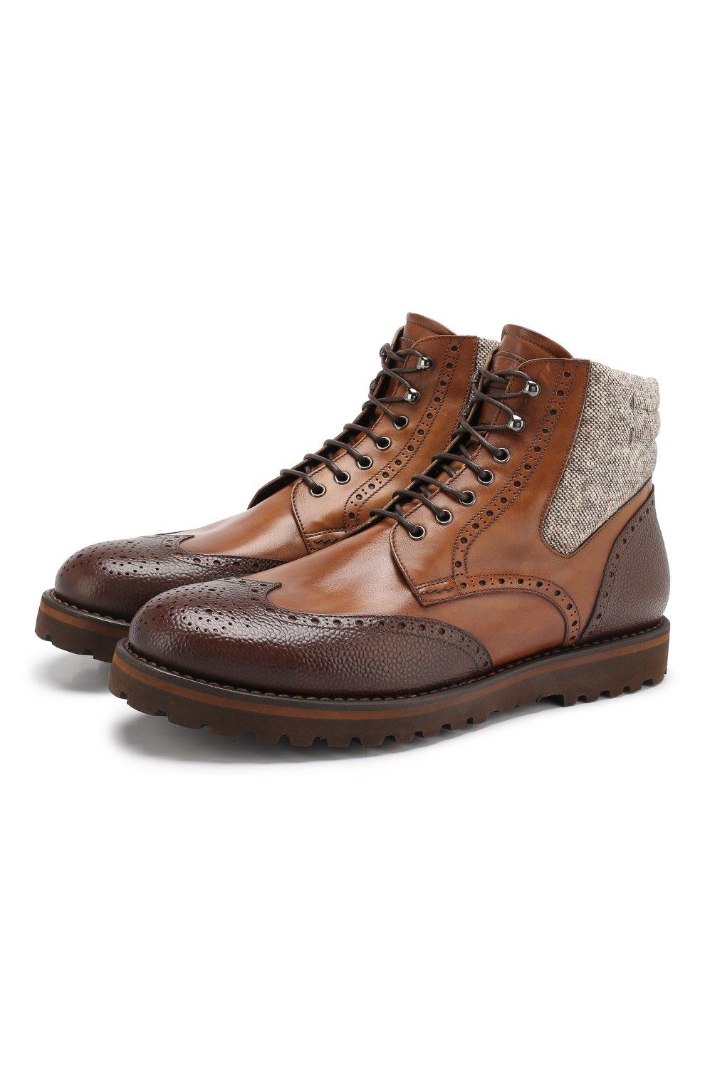 Мужские кожаные ботинки W.GIBBS коричневого цвета, арт. 0929072/1928 | Фото 1