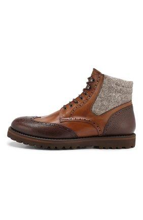 Мужские кожаные ботинки W.GIBBS коричневого цвета, арт. 0929072/1928 | Фото 3