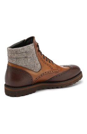 Мужские кожаные ботинки W.GIBBS коричневого цвета, арт. 0929072/1928 | Фото 4