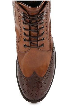 Мужские кожаные ботинки W.GIBBS коричневого цвета, арт. 0929072/1928 | Фото 5