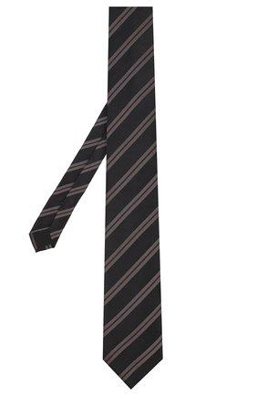 Мужской шелковый галстук DOLCE & GABBANA темно-синего цвета, арт. GT149E/G0RWU   Фото 2
