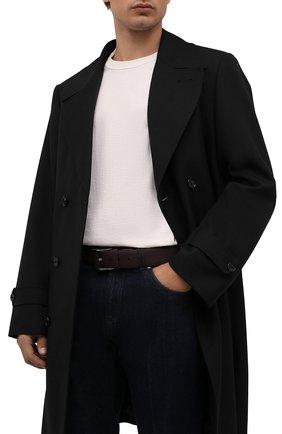 Мужской кожаный ремень ZILLI бордового цвета, арт. MJL-CLAQE-01947/0232 | Фото 2