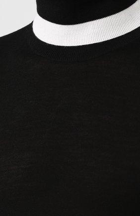 Водолазка из смеси шерсти и шелка | Фото №5
