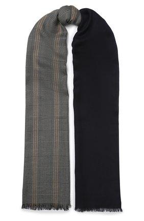 Мужской шарф из кашемира и шелка LORO PIANA темно-синего цвета, арт. FAI7518 | Фото 1