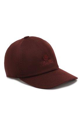 Мужской кашемировая бейсболка LORO PIANA бордового цвета, арт. FAF8520 | Фото 1
