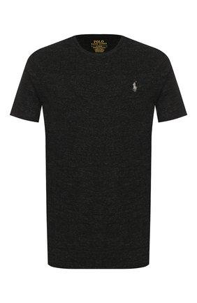 Мужская хлопковая футболка POLO RALPH LAUREN темно-серого цвета, арт. 710671438 | Фото 1 (Мужское Кросс-КТ: Футболка-одежда; Материал внешний: Хлопок; Длина (для топов): Стандартные; Рукава: Короткие; Принт: Без принта; Стили: Кэжуэл; Статус проверки: Проверена категория)