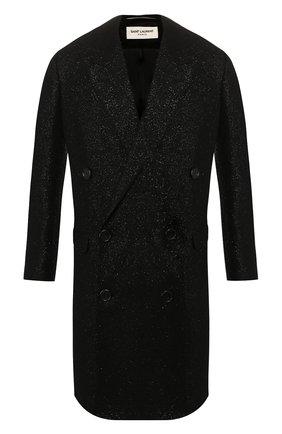 Мужской пальто SAINT LAURENT черного цвета, арт. 575730/Y033J | Фото 1