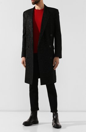 Мужской пальто SAINT LAURENT черного цвета, арт. 575730/Y033J | Фото 2