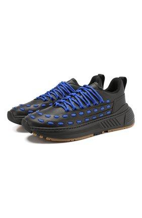 Мужские кожаные кроссовки BOTTEGA VENETA черного цвета, арт. 578305/VIFH0 | Фото 1